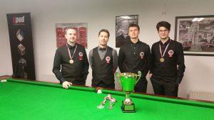 Siegerpodium Wr. Landesmeisterschaften Snooker AK 2016