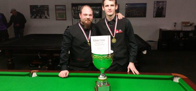 Daniel Göschl und Dominik Scherübl sind Wiener Meister Snooker Doppel 2016