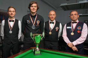 Siegerpodium Wr. LM Snooker AK 2017