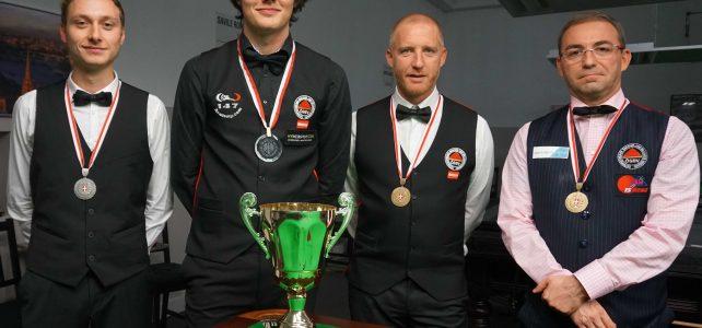 Oskar Charlesworth (HSEBC) ist Wiener Landesmeister Snooker Allgemeine Klasse 2017