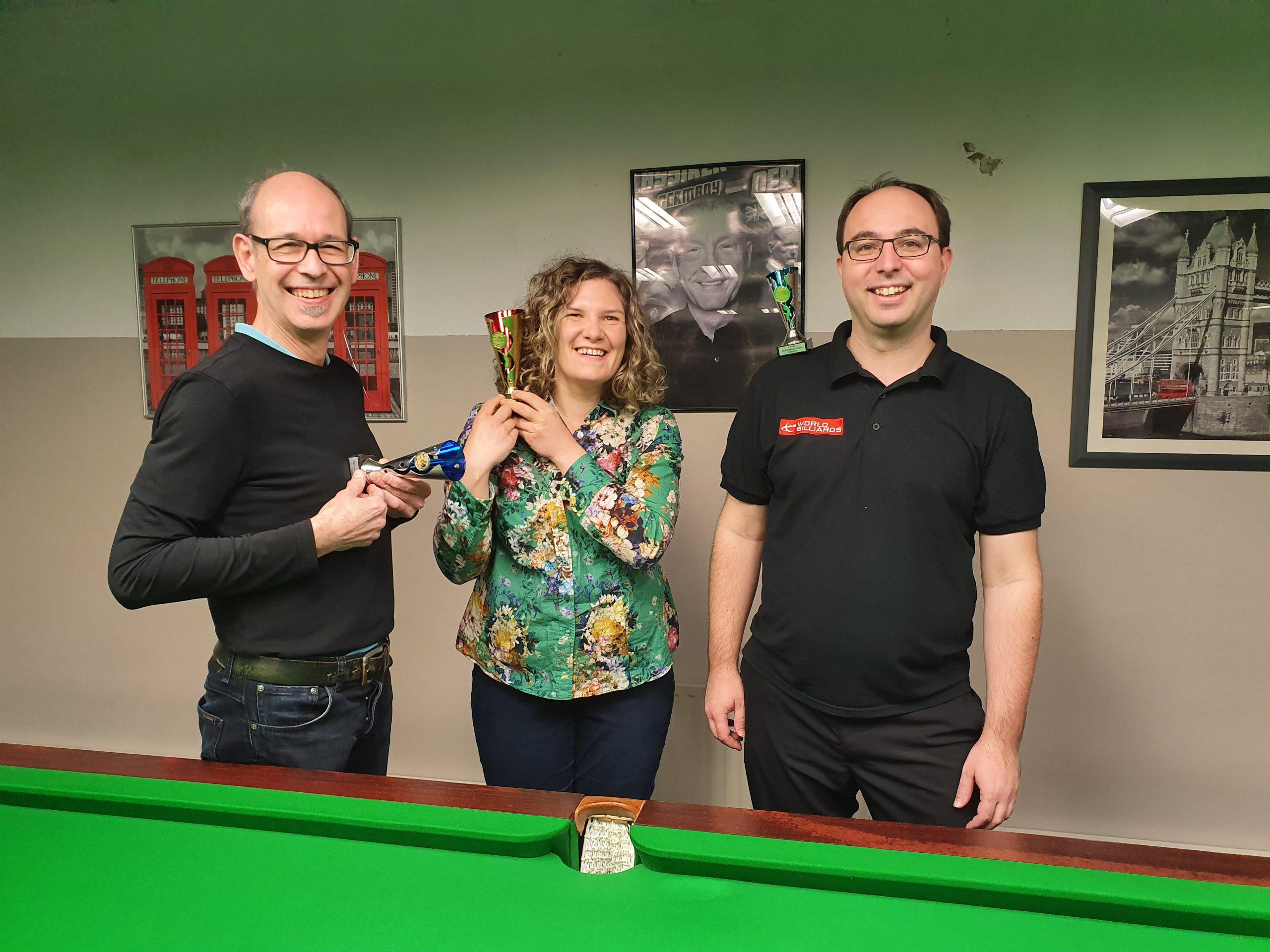 English Billiards Handicap Serie: Turniersieg für Franz Starhan, Saisonsieg für Stephanie Doležal.